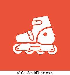平ら, シンボル。, スケート, スケート, icon., ローラー