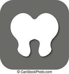 平ら, シンボル。, stomatology, 歯科医, icon., 歯