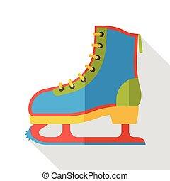 平ら, スケート, スポーツ, ローラー, アイコン