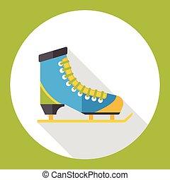 平ら, スケート, スポーツ, 氷, アイコン