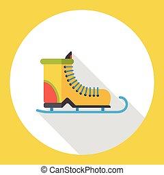 平ら, スケート, 氷, アイコン