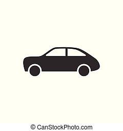 平ら, スタイル, あなたの, 網, 自動車, シンボル, イラスト, ui., ベクトル, 自動車, デザイン, ロゴ, アイコン