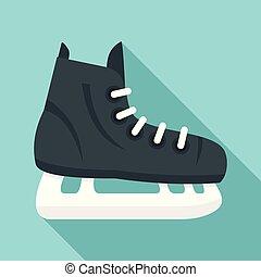 平ら, スタイル, アイススケートをしなさい, ホッケー, アイコン