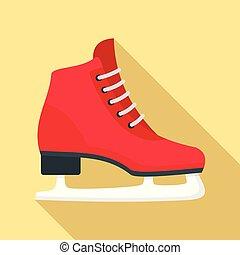 平ら, スタイル, クラシック, アイススケートをしなさい, アイコン