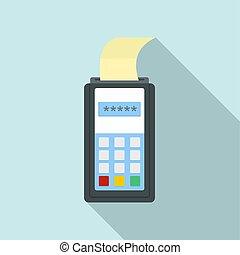 平ら, スタイル, クレジット, アイコン, 支払い, カード