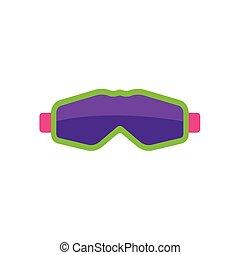 平ら, スタイル, マスク, ゴーグル, スキー, snowboarding