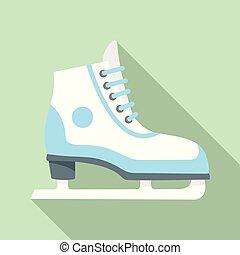 平ら, スタイル, 数字, アイススケートをしなさい, アイコン