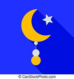平ら, スタイル, 星, illustration., 宗教, シンボル, 隔離された, バックグラウンド。,...