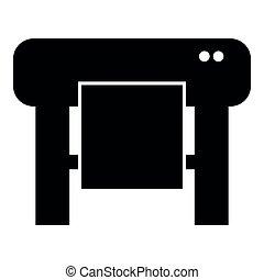 平ら, スタイル, 色, 作図装置, イメージ, イラスト, 単純である, 黒, アイコン