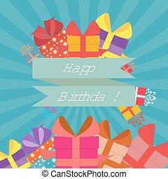 平ら, スタイル, birthday, 幸せ