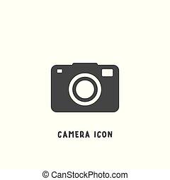 平ら, スタイル, illustration., 単純である, カメラ, ベクトル, アイコン