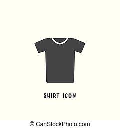 平ら, スタイル, illustration., 単純である, ベクトル, アイコン, ワイシャツ