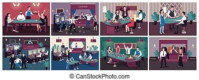 平ら, スロット, 得なさい, 賞, 勝利, 色, machine., 赤, set., 催し物, 漫画, 賭け, ...