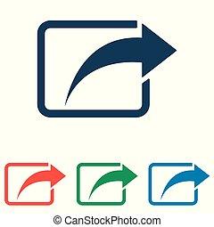 平ら, セット, 単純である, -, 分け前, 隔離された, 背景, ベクトル, デザイン, 白, アイコン