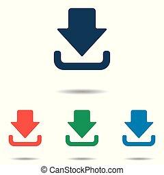 平ら, セット, 単純である, -, 隔離された, 背景, ベクトル, デザイン, ダウンロード, 白, アイコン