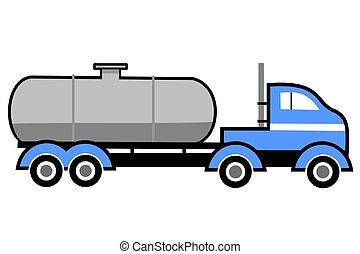 平ら, タンカー トラック