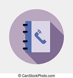 平ら, デザイン, オフィス, メモ用紙, アイコン