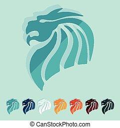 平ら, デザイン, 中国語, ドラゴン