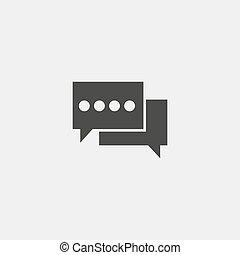 平ら, デザイン, eps10, イラスト, color., ベクトル, スピーチ, 黒, 泡, アイコン
