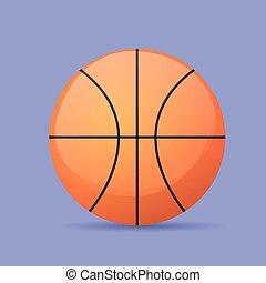 平ら, バスケットボールの色, ボール, ベクトル, アイコン