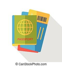 平ら, パスポート, アイコン