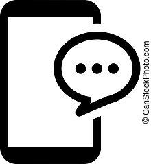 平ら, ビジネス コミュニケーション, concept., innovations, デザイン, icon.