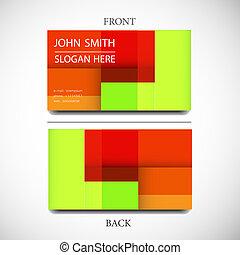 平ら, ビジネス, 単純である, ライト, 現代, ユーザー, テンプレート, インターフェイス, カード