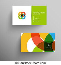 平ら, ビジネス, 現代, ユーザー, テンプレート, インターフェイス, カード