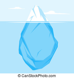 平ら, フルである, 氷山