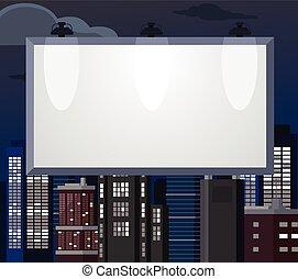 平ら, ベクトル, イラスト, billboard.
