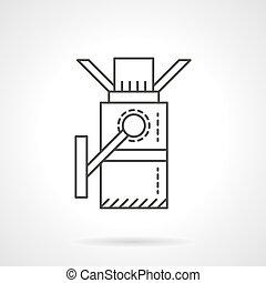 平ら, ベクトル, デザイン, 回転式木戸, 線, アイコン