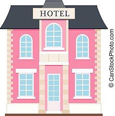 平ら, ホテル, アイコン