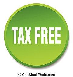 平ら, ボタン, 税, 隔離された, 無料で, 緑, 押し, ラウンド