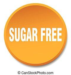 平ら, ボタン, 隔離された, 無料で, 砂糖, オレンジ, 押し, ラウンド