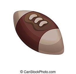 平ら, ボール, ラグビー, フットボール, アメリカ人, 漫画, スタイル