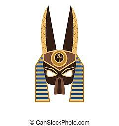 平ら, マスク, anubis, 古代, 神, エジプト人