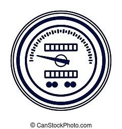 平ら, メートル, 自動車, スピード, デザイン, アイコン