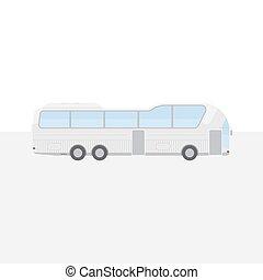 平ら, ライト, 10., バス, eps, イラスト, バックグラウンド。, 旅行, ベクトル, 大きい, 白