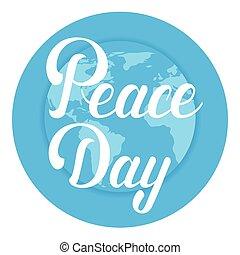 平ら, 世界, ポスター, 平和, 地球, インターナショナル, 休日, 日