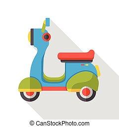 平ら, 交通機関, オートバイ, アイコン
