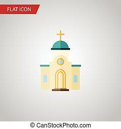 平ら, 使われた, ありなさい, 建築, 隔離された, 要素, ベクトル, デザイン, 建築, 教会, 宗教, icon., 宗教, concept., 缶