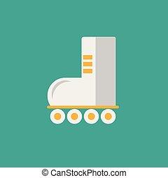 平ら, 偉人, セット, アイコン, 自動車, 公共の通過, 多く, スケート, more., アイコン, 交通機関, ローラー, |