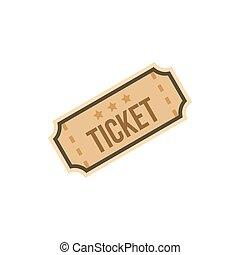 平ら, 切符, スタイル, アイコン