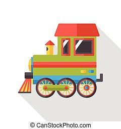 平ら, 列車, 交通機関, アイコン