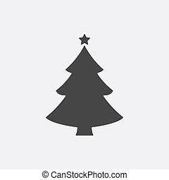 平ら, 単純である, pictogram, concept., 現代, 木, 木。, vector., インターネット, 最新流行である, クリスマス, winte