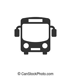 平ら, 学校, コーチ, ビジネス, バス, concept., 隔離された, イラスト, style., バックグラウンド。, ベクトル, 白, autobus, 輸送, アイコン