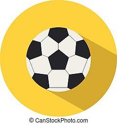 平ら, 学校, ボール, illustration., concept., フットボール, スポーツ, ベクトル, style., アイコン