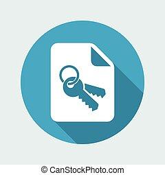 平ら, 安全である,  -, 保護, データ, 最小である, アイコン