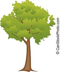 平ら, 抽象的, 木, スタイル
