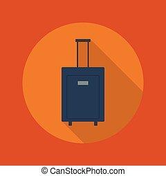 平ら, 旅行, icon., 手荷物